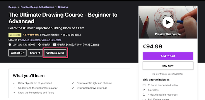 Udemy Gift this course
