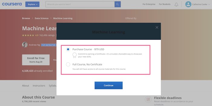 Coursera Purchase Course
