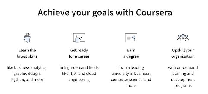 Coursera achieve your goals