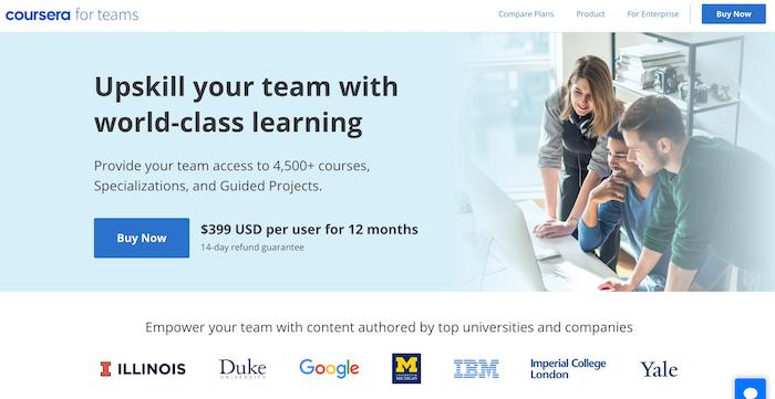 Coursera for teams