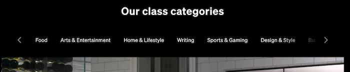 MasterClass 9 Categories