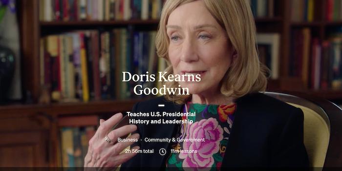 MasterClass Doris Kearns Goodwin