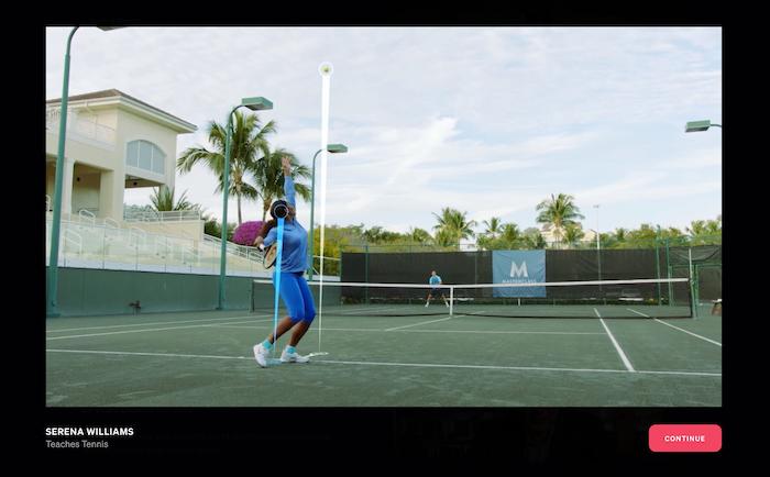 MasterClass Serena Williams class preview