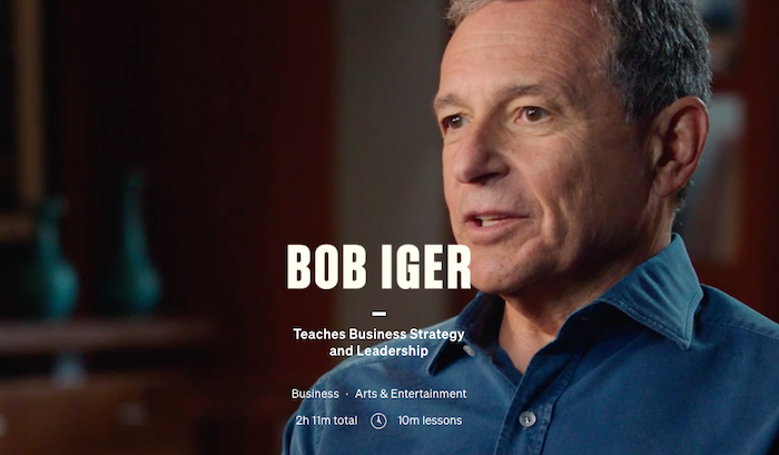 MasterClass Bob Iger