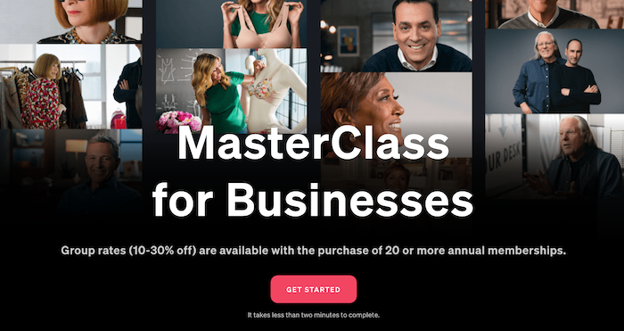 Masterclass for Businesses