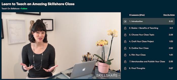 Skillshare Teach a Class