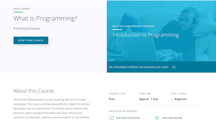 What is Programming Udacity