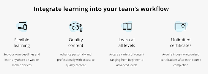 Coursera business workflow