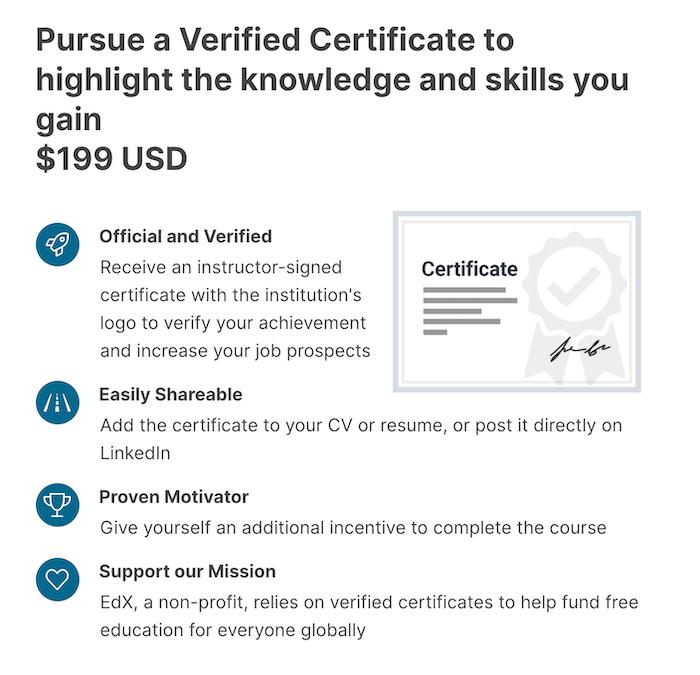 edX Certificate