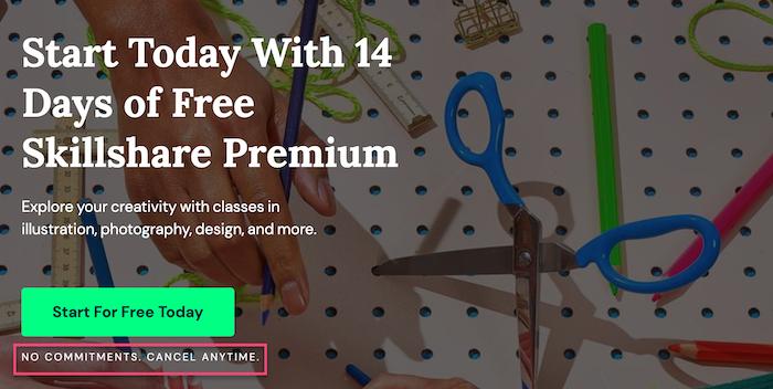 Skillshare free trial Premium