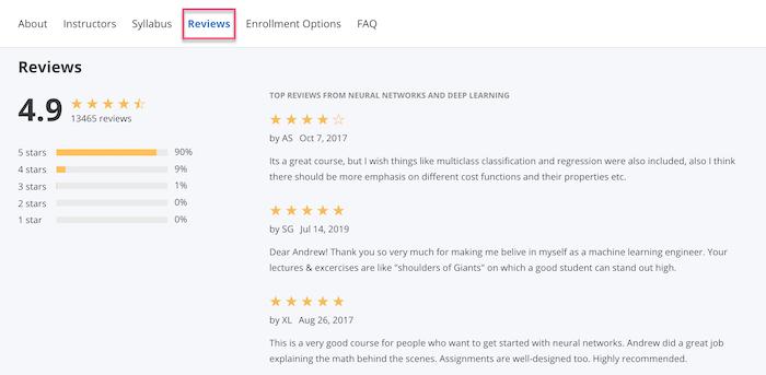 Coursera reviews