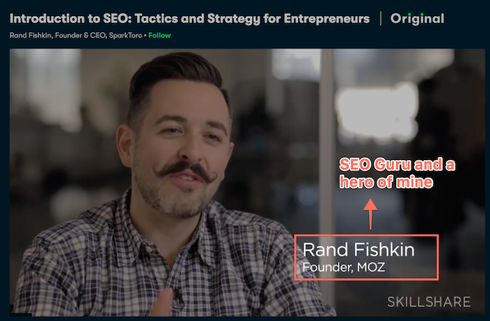 SEO course from Moz at Skillshare