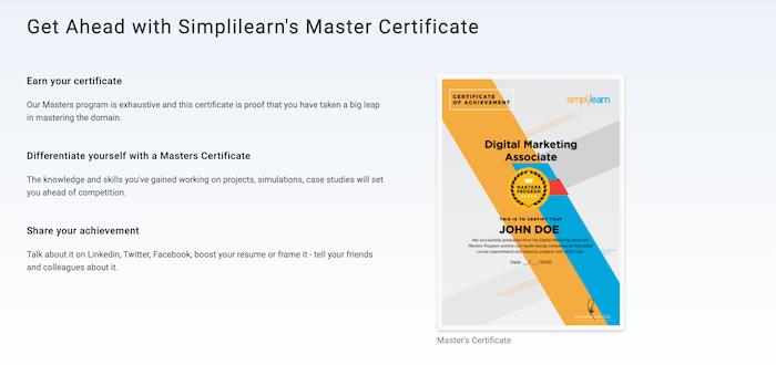 Simplilearn accredited certificate