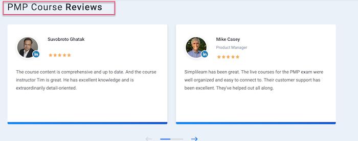 Simplilearn reviews