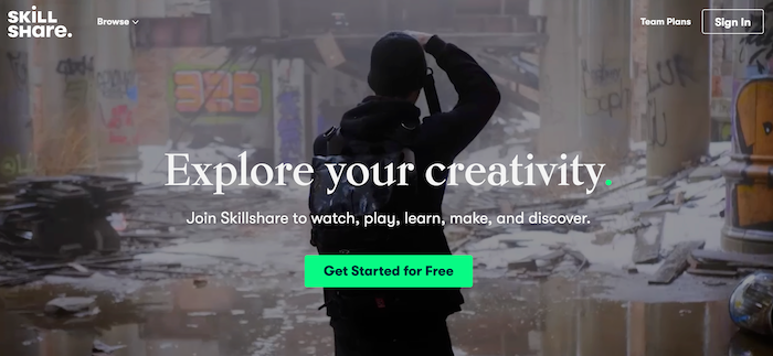 Skillshare elearning platform