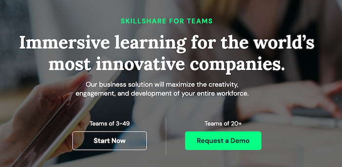 Skillshare for Teams