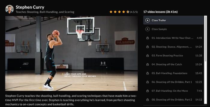 Stephen Curry Teaches Basketball at MasterClass