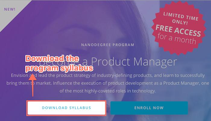 Udacity's program syllabus
