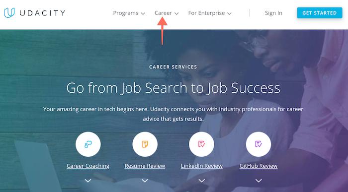 Udacity career advice
