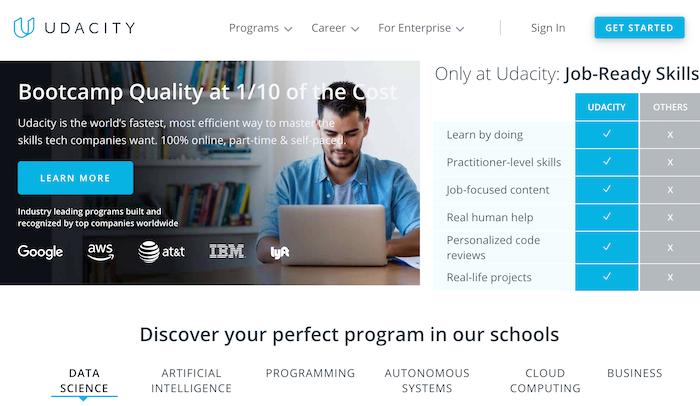 Udacity to learn online