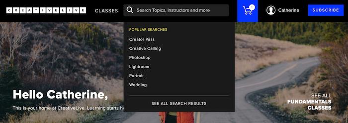 CreativeLive Search Classes
