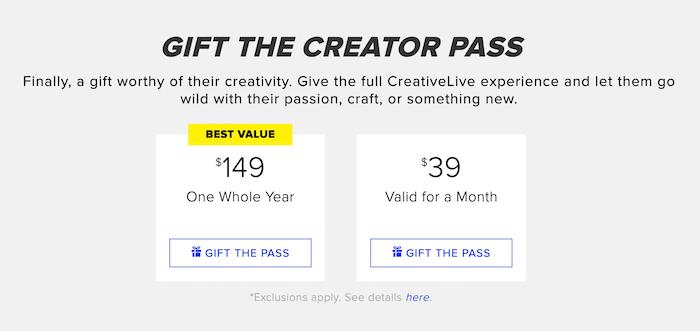 Gift The Creator Pass