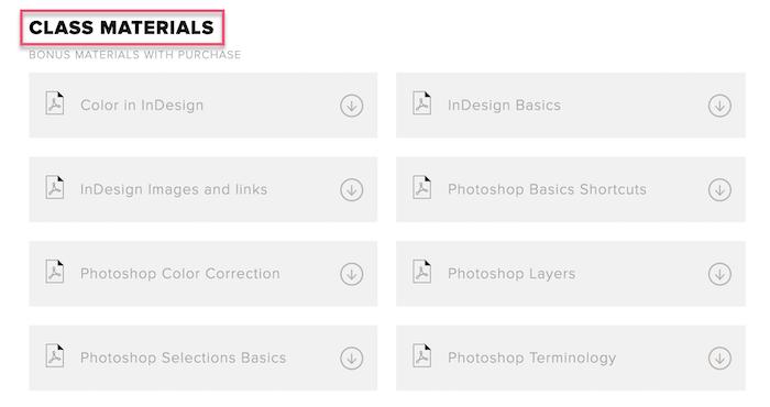 CreativeLive class materials