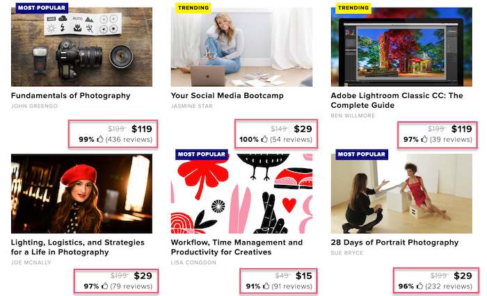 CreativeLive discount courses