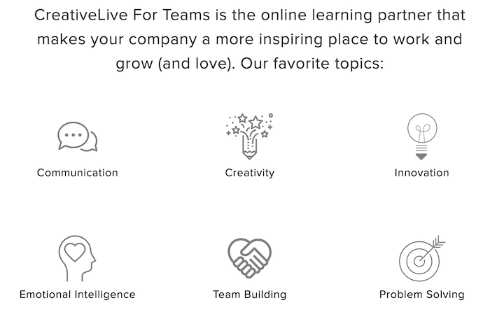 CreativeLive for Team Topics