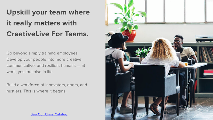 CreativeLive For Teams