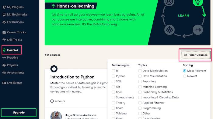 Datacamp Courses