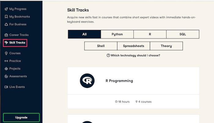 Datacamp Skill track