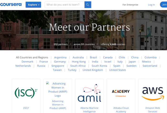 Coursera Meet our Partners