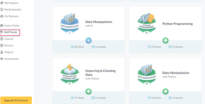 Datacamp Skill Tracks