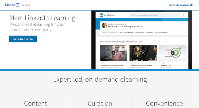 LinkedIn Learning for teams
