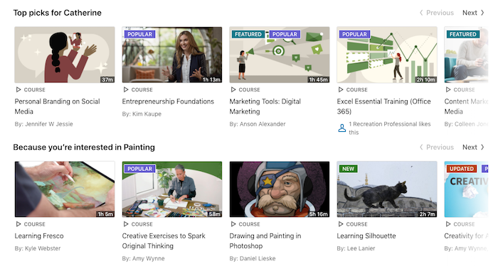linkedin learning recommendations