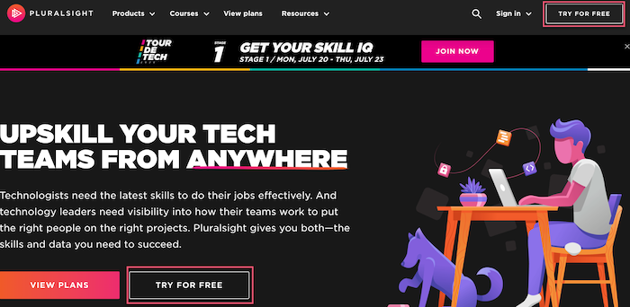 pluralsight try for free