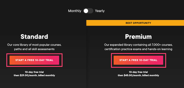Pluralsight 10 day free trial