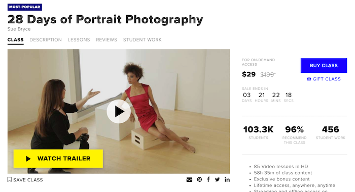 CreativeLive 28 Days of Portrait Photography