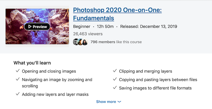 LinkedIn Learning Photoshop 2020 One-on-One Fundamentals