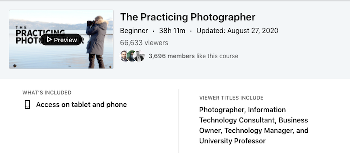 LinkedIn Learning The Practicing Photographer
