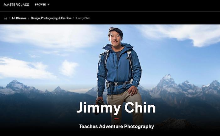 Masterclass Jimmy Chin Teaches Adventure Photography