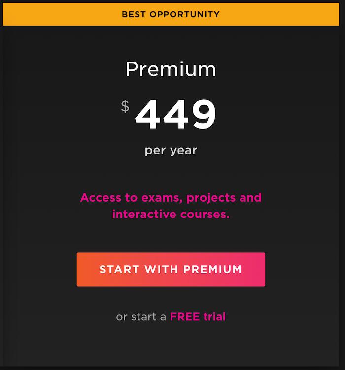 Pluralsight premium subscription plan