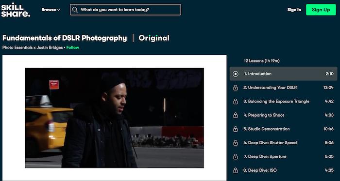 Skillshare Fundamentals of DSLR Photography