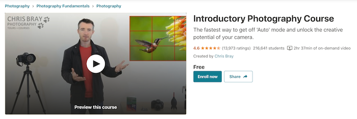 Udemy Introductory Photography Course