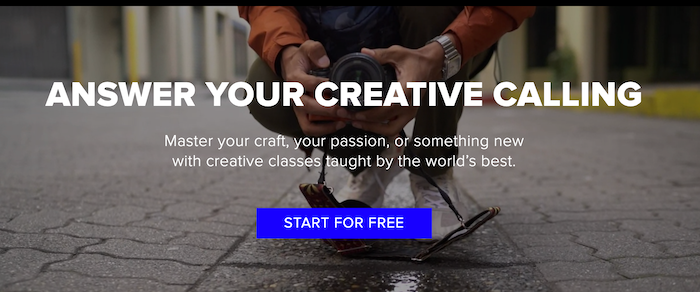 CreativeLive landing page