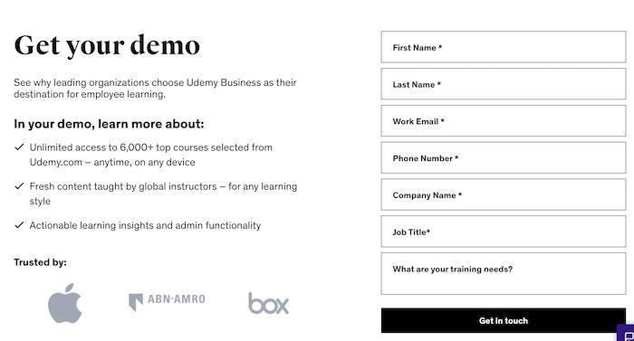 Udemy Business Enterprise Plan Demo
