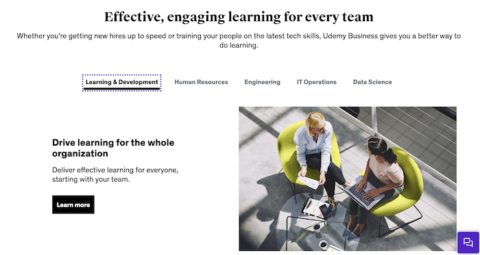 Udemy Business Team Plan Training