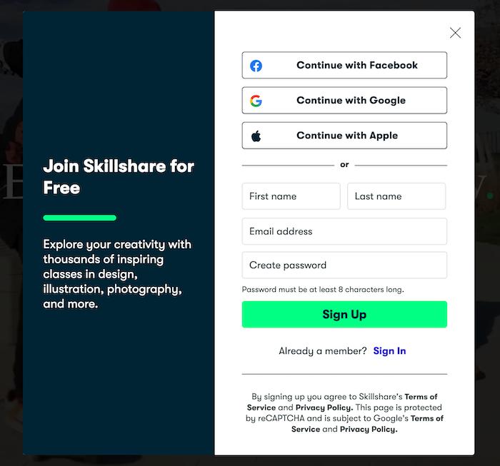Join Skillshare for Free
