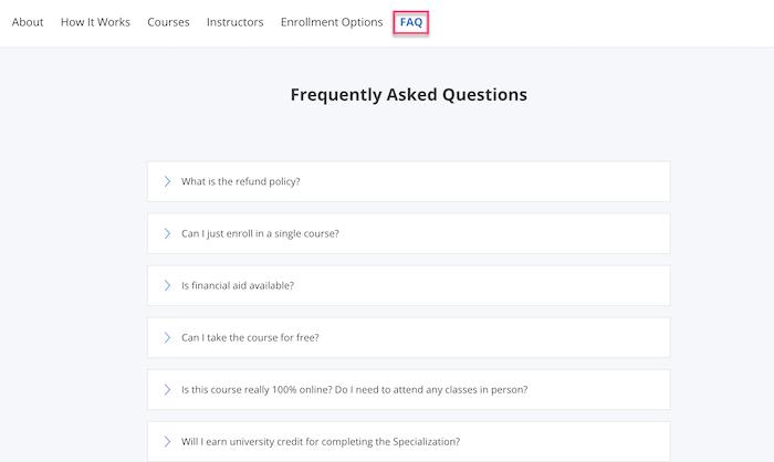 Coursera FAQ
